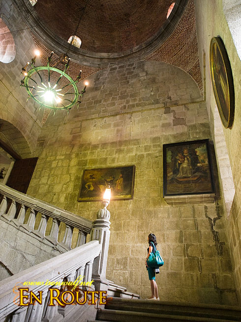 San Agustin Church Up the stairs
