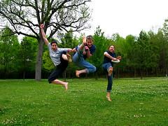Neighborhood Watch (flipmode25) Tags: spring jumping birmingham funny action alabama kicking georgewardpark