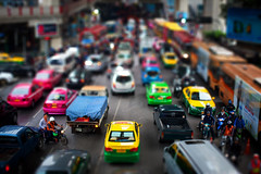 biG miNiaTURe wOrLd (27147) Tags: road bus car photoshop canon square eos miniature traffic bangkok taxi fake
