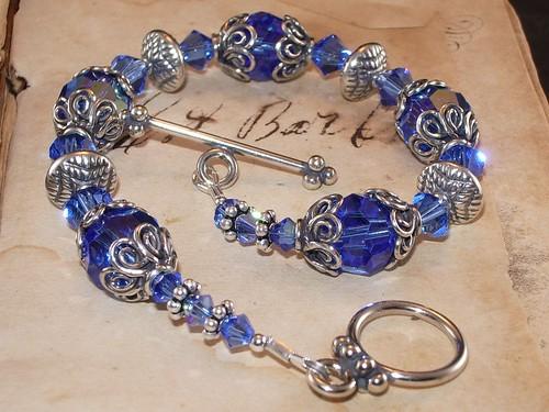 Swarovski Sapphire and Sterling Silver Bracelet