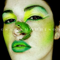 Like a Frog (Sara_Morrison) Tags: verde green makeup lips frog freckles rana faccia trucco lentiggini