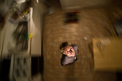 40[52] - Spin (jæms) Tags: selfportrait me topf25 kitchen explore nophotoshop 52 remoteflash remoteshutter