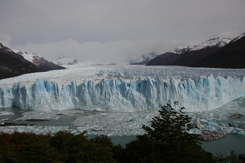 first glimpse of Glaciar Perito Moreno