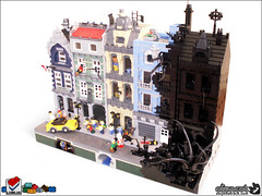 The Reality Dysfunction (Aliencat!) Tags: black rock town lego fantasy raiders moc fabuland