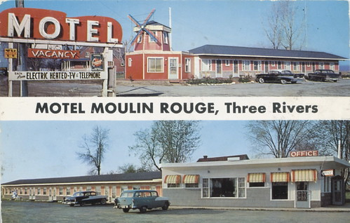 Motel Moulin rouge, Three Rivers (recto)