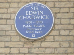 Photo of Edwin Chadwick blue plaque