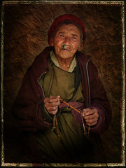 ...ageing away in solitude (CoSurvivor) Tags: portrait texture vintage solitude prayer buddhism processing leh photoart ladakh hemis bej aplusphoto cosurvivor texturesforlayers memoriesbook theunforgettablepictures earthasia artofimages bestportraitsaoi textuires