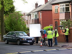 manor road bmw scene (Broady - salford artist and photographer) Tags: road street david television jack actors tv soap team north mikey location cast crew return granada craig graeme production gary celebrities manor salford filming proctor coronation platt itv tvstars rovers corry thestreet broady windass stephenbroadhurst stevebroadhurst filmingcoronationstreet pshepherd gazey