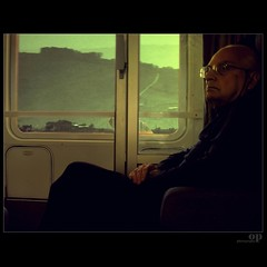 Austere travel companion (Osvaldo_Zoom) Tags: travel portrait train bravo journey commuter companion trainproject trenitalia austere explored16