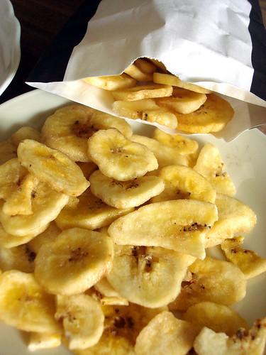 Trockenfrüchte von Schwarzenbach Kolonialwaren Zürich — Bananen-Chips