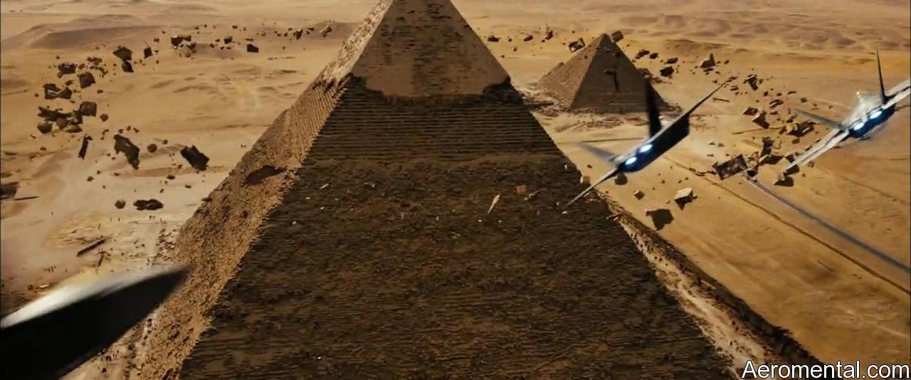 Transformers 2 pirámide piedras flotan