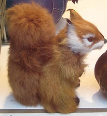 a toy squirrel