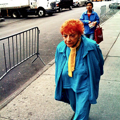 """Lady Orange"" (Sion Fullana) Tags: newyork colors square colorful streetphotography squareformat allrightsreserved newyorkers newyorklife deepblue colorexplosion iphone 500x500 iphonephotography ladyorange iphoneshots sionfullana camerabagapp sionfullanasphotography iphoneography iphoneographer sionfullana lolostyle oldladywithcrazyorangehair peoplewithoutinsecurities throughthelensofaniphone"