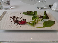 """Prologue"" (tristanf) Tags: food holiday japan restaurant tokyo honeymoon soil aoyama radish lescrationsdenarisawa"