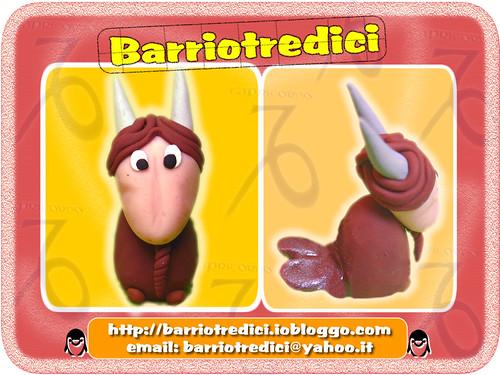 Capricorno - Linea Segni Zodiacali - Fatto a mano - Handmade - Polymer clay