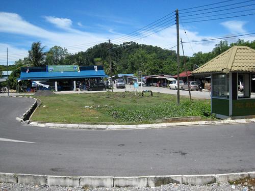 Arrival at Bako bus stop