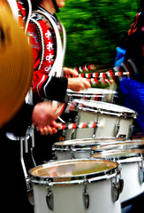 Drum Line (AndrewCline) Tags: life red usa black color bedford drums march nikon band newhampshire parade highschool marching memorialday
