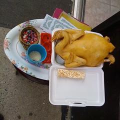offering (John Pham) Tags: cambridge chicken duck rice incense fakemoney ricekrispiestreat