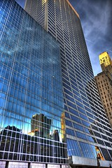 Skyscrapers on 42nd St. (rocco11510) Tags: street new york city nyc skyscraper canon reflections f28 hdr 42nd 1755mm 40d platinumphoto rubyphotographer