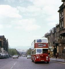View of Fife, Hanover Street, Edinburgh, 1974 (georgeupstairs) Tags: bus orion titan leviathan doubledecker leyland mcw ednburgh pd220 edinburghcorporationtransport