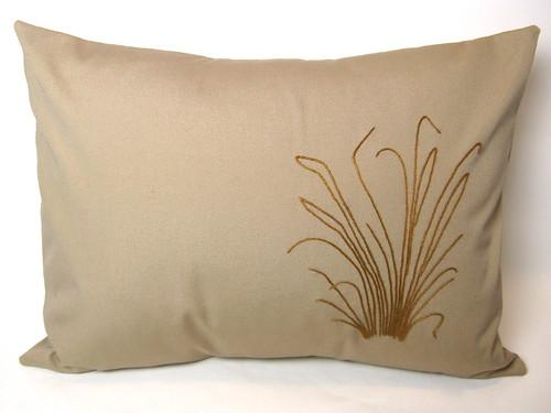 Morning #141 - Beach Grass Throw Pillow