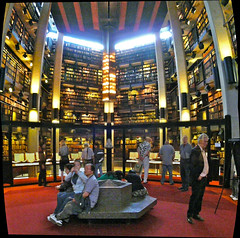 Thomas Fisher Rare Book Library Interior (Craig James White) Tags: autostitch toronto ontario canada architecture universityoftoronto 1973 brutalism uoft doorsopen robartslibrary thomasfisherrarebooklibrary mathershaldenby