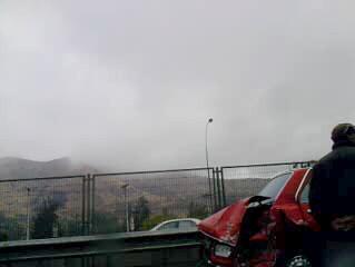 Como quedo uno de los auto - Choque Ruta 5 26-05-2009