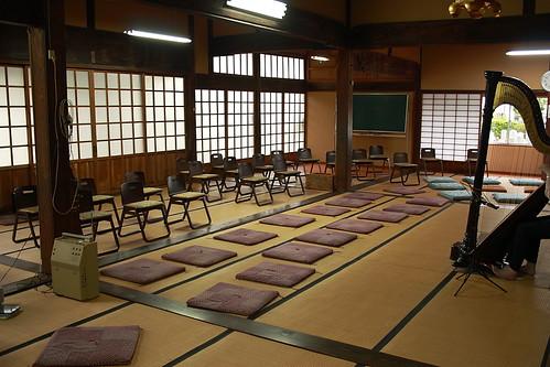 葵ハープ教室コンサート 会場準備完了