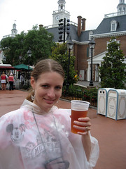 tammy posing with a beer in the US