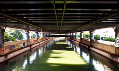 Under the Route E75 (irene gr) Tags: city bridge green water river olympus explore avenue zuiko e30 43 zd fourthirds 1454mm f2835 zuikodigital kifisos 1454mmii irenegr