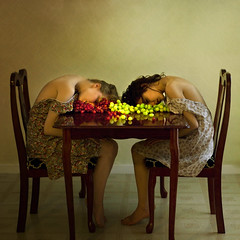 violence of a still life (brookeshaden) Tags: table death chair women rich dresses grapes barefoot valerie proper oliviaclemens brookeshaden texturebylesbrumes violenceofastilllife