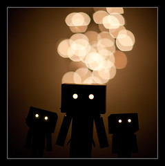 The Danbo Family is Complete (and[w]) Tags: canon dof bokeh danbo 85l danboard 5dii