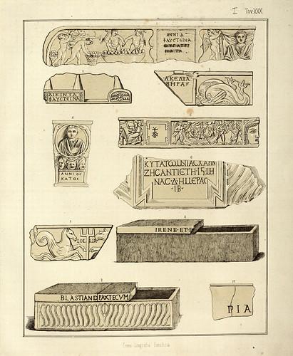 006- Inscripciones de las catacumbas 2-La Roma sotterranea cristiana - © Universitätsbibliothek Heidelberg