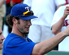 hey now, children (Boston Wolverine) Tags: boston baseball expression fenway bp rangers signing pregame mlb jarrodsaltalamacchia 70300mmf456