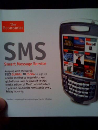 Economist SMS ad