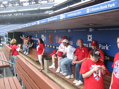 Phillies Nation in the dugout