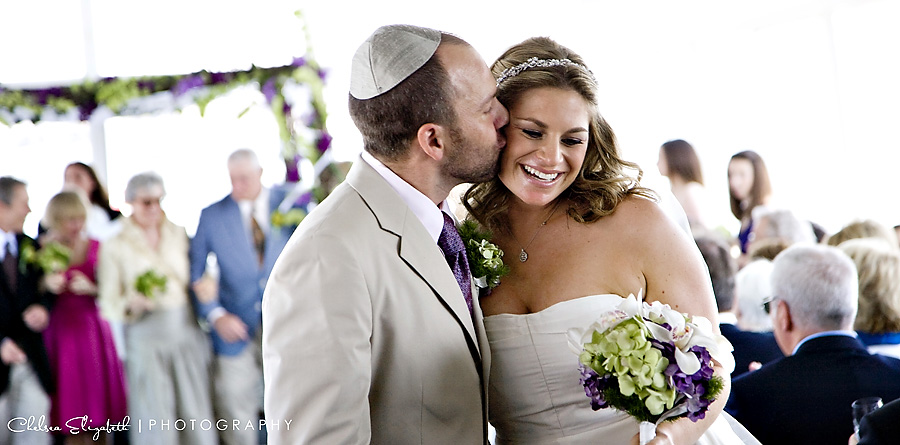 wedding recessional bride and groom dandeana yacht wedding