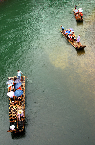 bamboo rafting, wuyi mountain