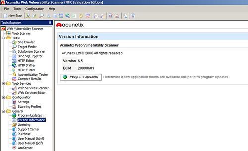 Acunetix Web Vulnerability Scanner (WVS) 6.5