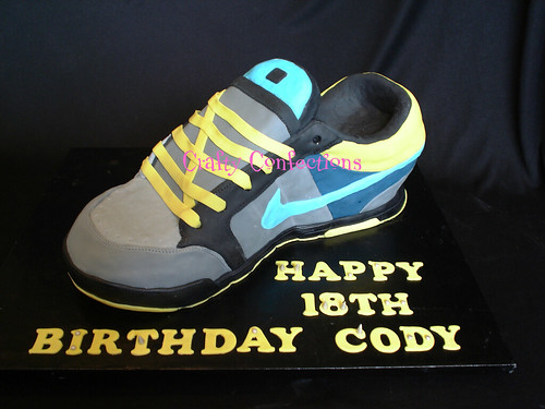 Nike shoe cake
