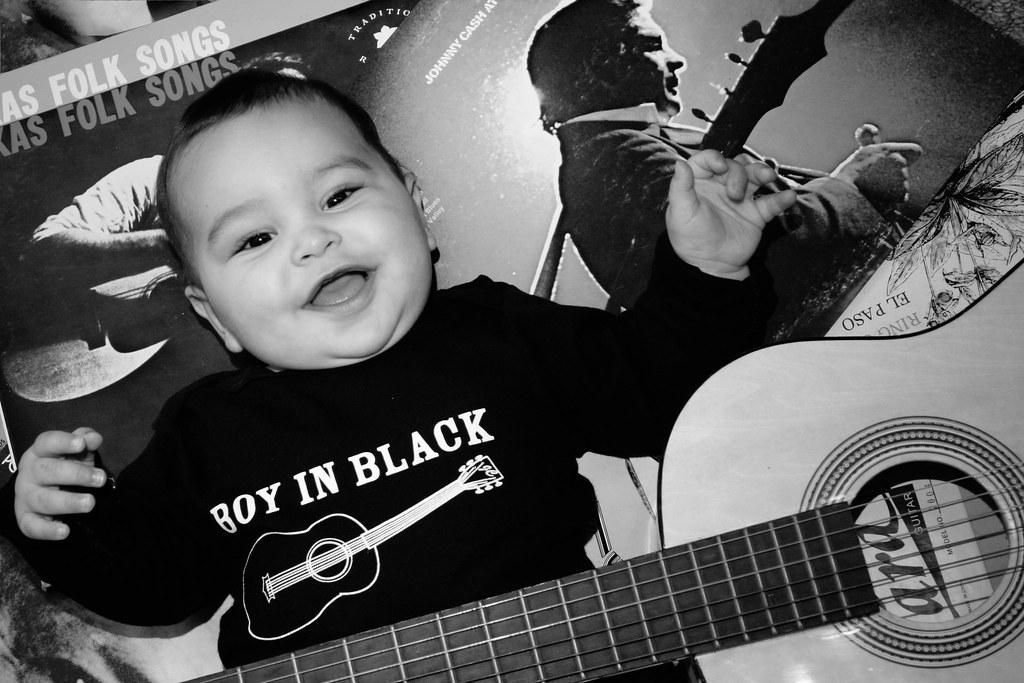Johnny Cash Shirt Black and White