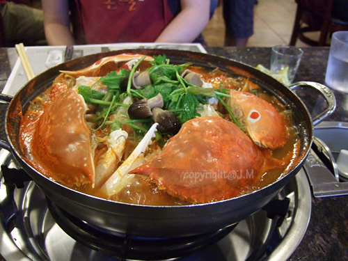 large spicy crab hot pot