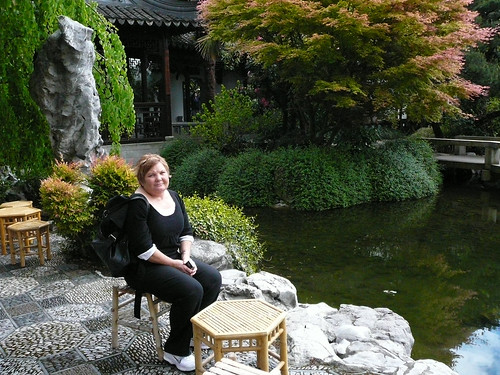 Sue at the Portland Classical Chinese Garden