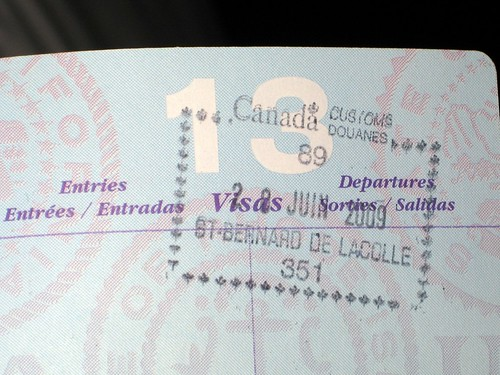 Example of a passport stamp