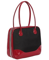 Black Candy laptop bag (black w/ red patent) from Rainebrooke