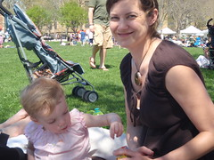 jen and charlee at the Shad festival (yobosayo) Tags: philadelphia fishtown shadfestival