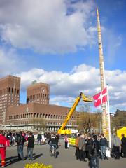 World-record Lego tower in Oslo (heybeans) Tags: world tower oslo norway norge lego record radhus rdhus legotarn