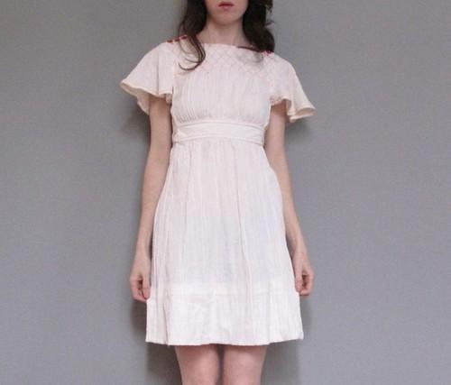 vintage white 70's dress