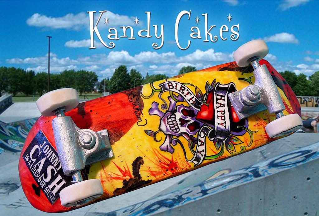 Skateboard Cake by Kandy Cakes