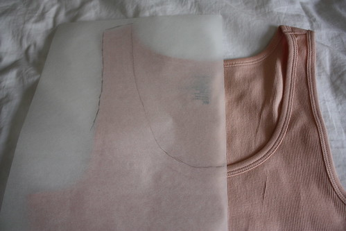 Step 1: Trace Outline Half of front Neckline